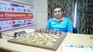 GM Abhijit Kunte had a lucky win over his team mate GM Neelotpal Das