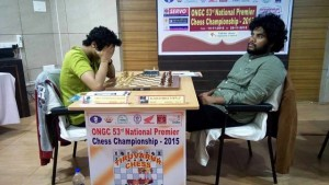 GM Vidit Santosh Gujrathi maintains his unbeaten record in the championship and IM P Karthikeyan slips