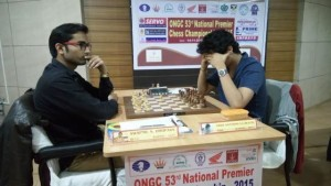 GM Vidit Santosh Gujrathi played a safe draw against GM elect Swapnil Dhopade