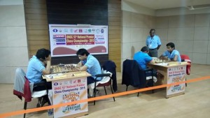 Top boards in action - Vidit vs Neelotpal and Karthikeyan Murali vs Kunte