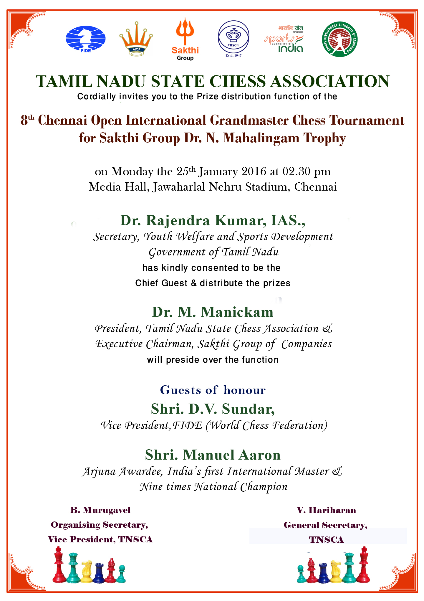 Chennai Open PD card