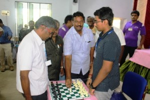 PA Thanavelan, Chairman PTR College of Engineering & Technology inaugurated the GKCA Chess tournament - Karthik V of TN is the top seed